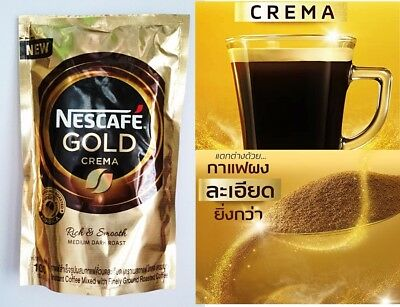 Nescafe Gold CREMA Instant Coffee Mixed With Finely Ground Roasted Refill 100 g.