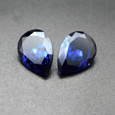 Unheated 1.47ct Natural Mined Blue Sapphire Pear Cut 6x8mm VVS Loose Gemstone