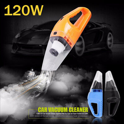 Car Styling Vacuum 12V 120W Auto Vacuum Cleaner Handheld Super Suction Vacuums