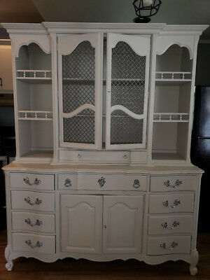 French Country Hutch by White Furniture Company Buffet | Antique Sideboard