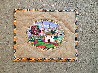 2000 Russian Signed Irina Bolotova Quilt of Suzdal from Frank Foley Collection