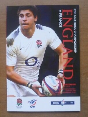 England v France, 26.02.2011 - Six Nations Match Programme.