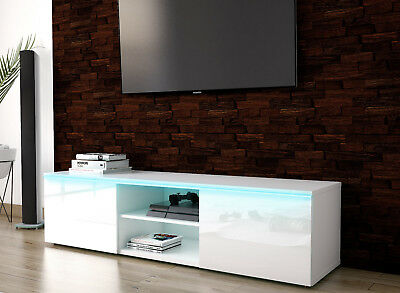 High Gloss White TV Unit Cabinet TV Stand 100 120 140 160 cm