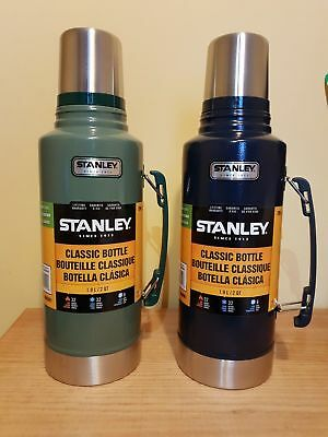 1.9L Classic Stanley Thermos Flask Stainless Steel Vacuum 1.9 Litre Blue Green