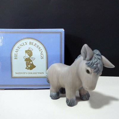 Avon 1986 Heavenly Blessings Christmas Nativity DONKEY New in Box