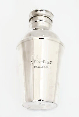 Sterling Silver Vintage Poole Cocktail Shaker