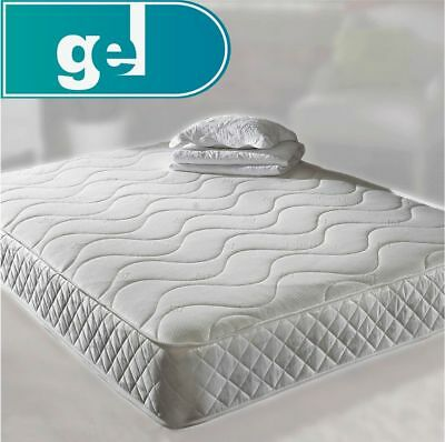 """6"""" White spring memory foam mattress Quilted - 3ft, 4ft, 4ft6, 5ft, 6ft"""