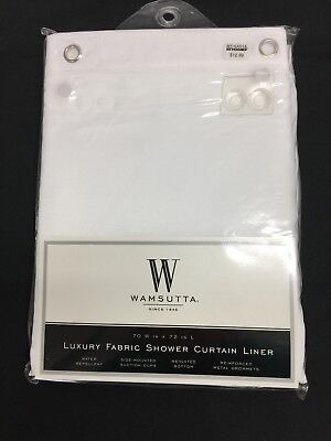 Wamsutta Luxury Fabric Shower Curtain Liner 70 X 72