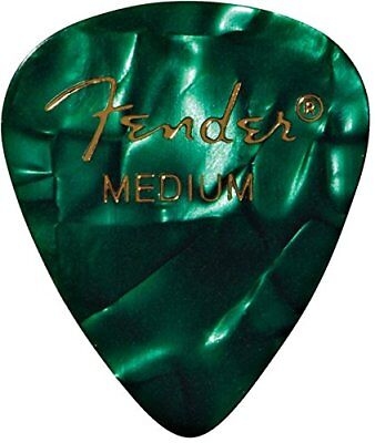 Fender Green Moto Guitar Picks 12pk Medium Plectrums