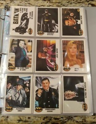 1989 Topps Batman Series 1 Trading Card Set (132) Cards Ex- Nm plus 22 Stickers