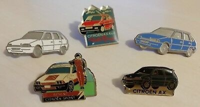 Lot de 5 Pin's Voitures CITROËN AX