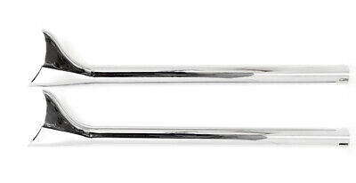 2 New Fishtail Extensions For Harley-Davidson Road King Exhaust Pipes 1985-2011