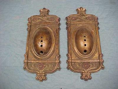 Antique Cast Iron Back Plates for Wall Sconces