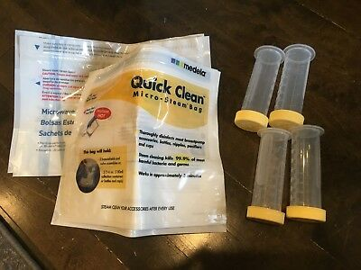 MEDELA + Dr. Brown Quick Clean Bags + Milk Storage Containers
