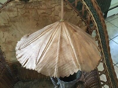 Antique Victorian child's or doll silk umbrella parasol wood handle late 1800's