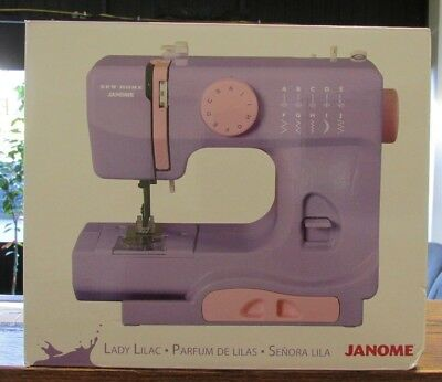 NEW!! JANOME LightWeight Portable Sewing Machine - LADY LILAC