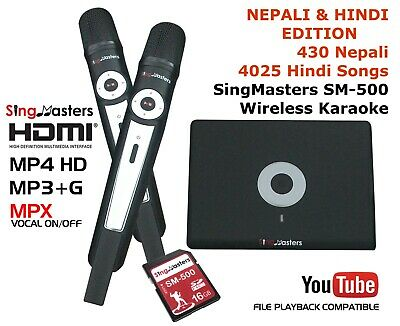 NEPALI HINDI KARAOKE SingMasters Magic Sing,412 Nepali,4025 Hindi songs Wireless