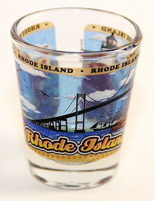 Rhode Island State Wraparound Shot Glass Shotglass