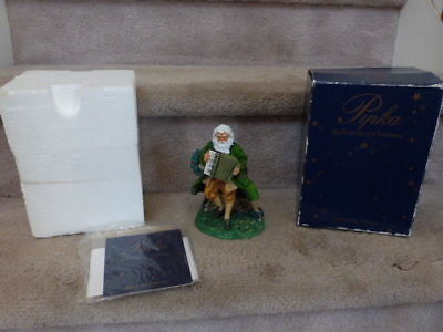 VINTAGE 1999 LTD Edition 5th Anniversary Pipka Irish Santa Figurine 6""