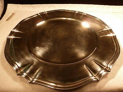 Antique Heavy Tiffany & Co Sterling Silver Charger Plate Tray No Mono Moore