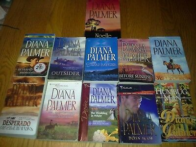 Lot of ten (10) paperback romance books by Diana Palmer (Harlequin Series)