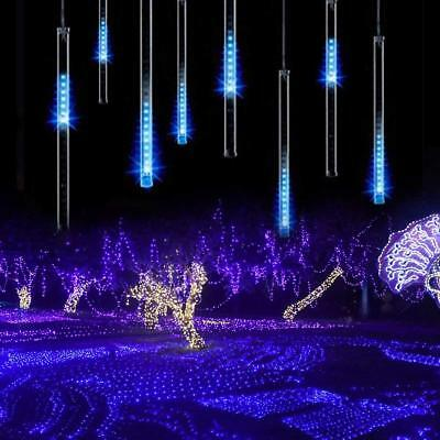 Led Meteor Shower Lights Outdoor Falling Rain Drop Icicle