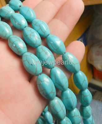 10x16mm Turquoise Gemstone Loose Beads 15""