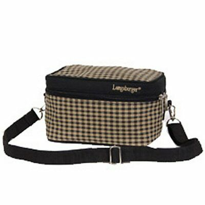 Longaberger Khaki Check LUNCH BAG with Adjustable Strap ~ New with Tags!