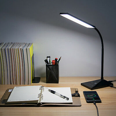 12W LED DeskLamp Flexible Gooseneck Table Lamp 5Color Temperatures Reading Light