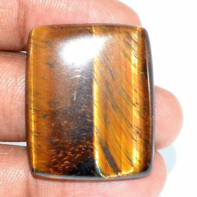 Cts. 40.55 Natural Chatoyant High Grade Tiger Eye Cabochon Baguette Gemstone