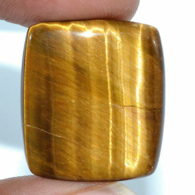 Cts. 28.45 Natural Chatoyant High Grade Tiger Eye Cabochon Baguette Gemstone