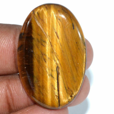 Cts. 40.65 Natural Chatoyant High Grade Tiger Eye Oval Cabochon Cab Gemstone