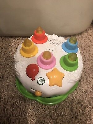 Leapfrog Counting Candles Birthday Cake Light Blow Out Musical Toy WORKS GREAT