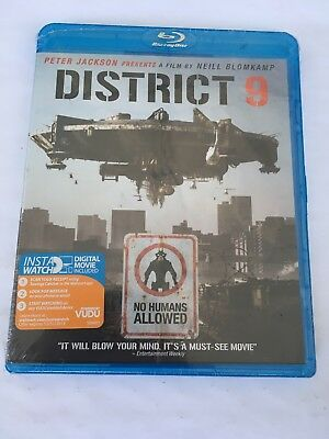 DISTRICT 9 (Blu-ray Disc, 2009) New