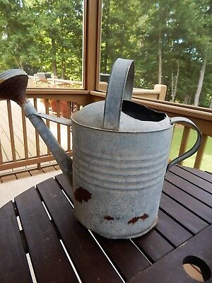 Antique / Vintage Large Galvanized Primitive Sprinkling Watering Can