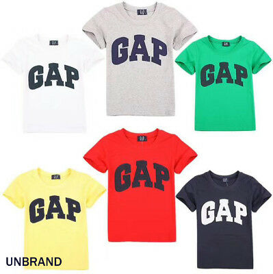 Boys Girls Short Sleeve Baby gap design T-shirt Top Tee 6 Colors 2.3.4.5.6Y
