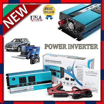 1500W Power Inverter Truck Car DC 12V to AC 110V Electrical Charger Converter US