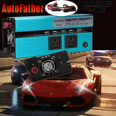 New!1500W 3000W(Peak) Power Inverter USB Converter Car Adapter 12V DC To 110V AC