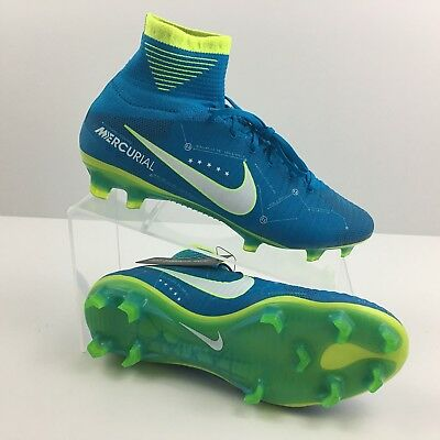 new product 467bb 2fe61 ... authentic nike mercurial superfly v njr fg 921499 400 neymar green  boots high size 7 new