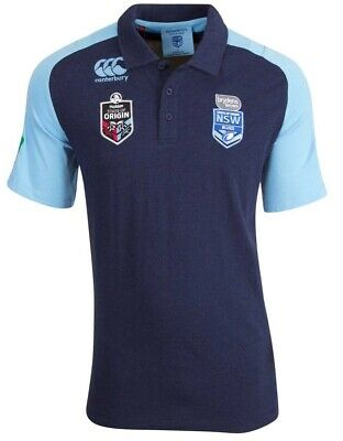 NSW Blues 2018 State of Origin Mens Raglan Polo Shirt Sizes S-5XL BNWT
