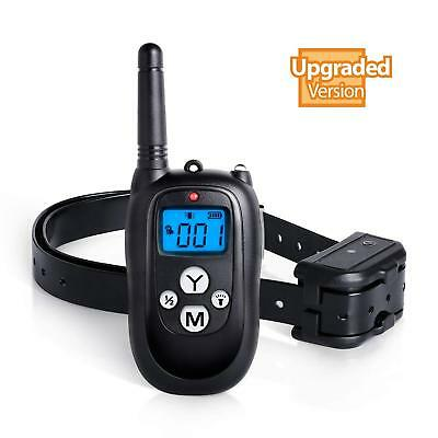 Petcul 1450ft Waterproof Training Collar Remote Pet Dog w/ Beep/Vibrate/Shock