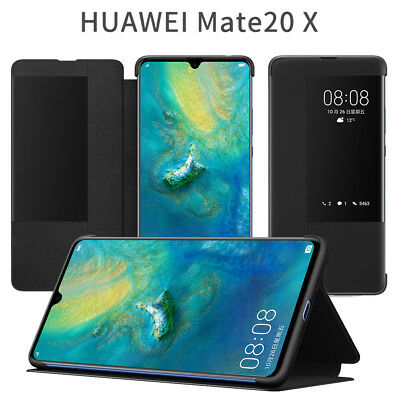 100% Original Smart Flip PU Leather View Window Case Cover For Huawei Mate 20 X