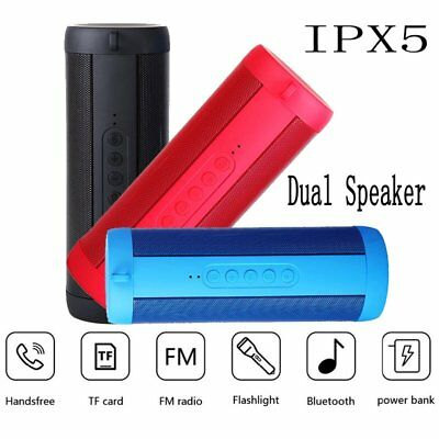 Portable Wireless Bluetooth Speaker Waterproof Outdoor Bass Stereo Loudspeaker