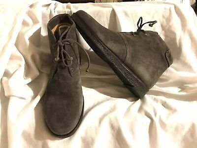 Via Spiga NEW Womens Jancy Graphite Gray Suede Chukka Boots 10M MSRP $265