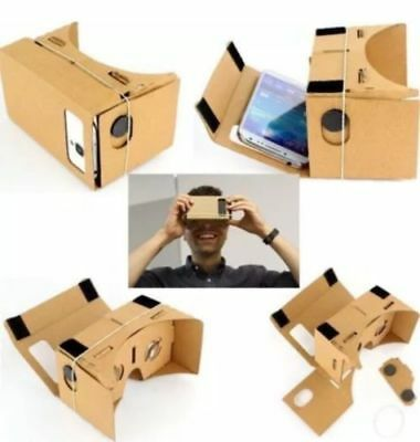 Cardboard 3D VR Virtual Reality Google Headset Movie Games Glasses for Phones OY