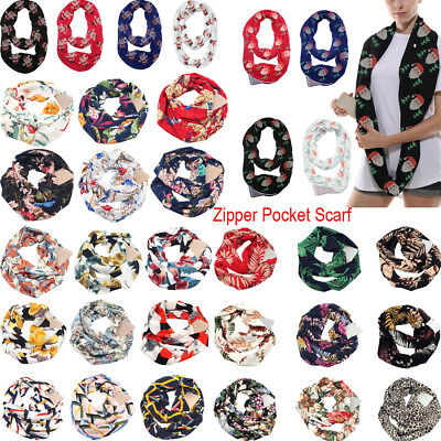 New Womens Scarf With Pocket Convertible Journey Infinity Scarf All-match AU