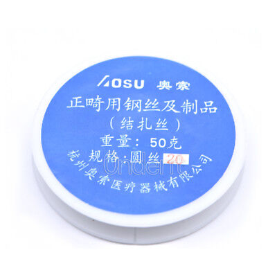 1X Dental Ortho Ligature Wire Stainless Steel Wire Line 0.2 / 0.25 / 0.3/0.4 mm