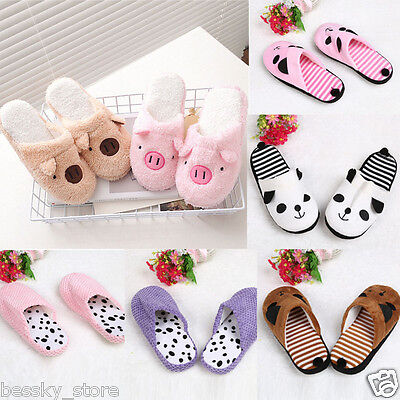 Lovely Women Slippers Winter Warm Indoor Home Floor Soft Slippers Shoes L
