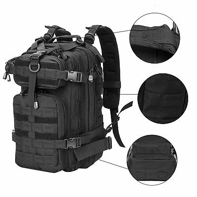 Military Tactical Assault Backpack Hiking Bag Outdoor Travel Army Molle Rucksack