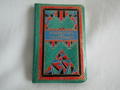 vintage address book address and telephone numbers tabbed
